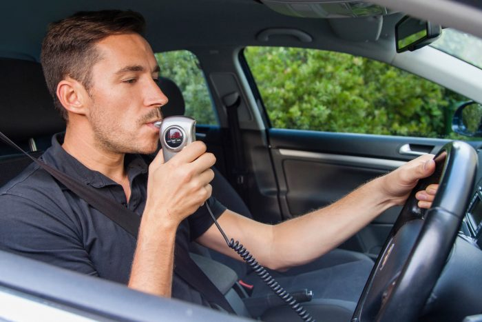driver being breathalysed on the Central Coast